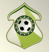 Modern dynamic designed vector sport emblem. Soccer. — Stock Vector