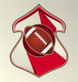 Moderne dynamische gestaltete vektor-sport-emblem. fußball. — Stockvektor