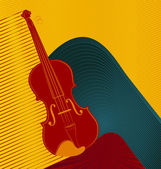 Modern abstract musical designed background. Violin. — Stok Vektör