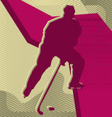 Modern abstract sport vector background design. Ice Hockey. — Stock Vector
