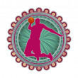 Modern abstract sport emblem design. Basketball. - Stockvectorbeeld