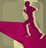 Modern soyut spor vektör arka plan tasarımı. çalışan. — Stok Vektör