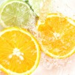 Orange and lime — Stock Photo