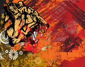 Tiger on abstract background — Stock Photo