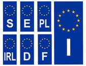 欧洲联盟国家易拉宝 — 图库照片