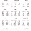 Template for calendar 2012 — Stock Photo