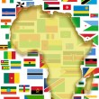Stock Photo: Africmap and country flags