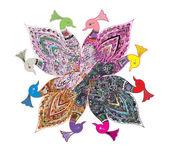 Artistieke kleuren vogels — Stockfoto
