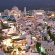 Thira village, Santorini island — Stock Photo