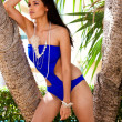 Young Woman Posing in a Designer Bathing Suit — Stock Photo #5722840