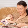Happy mom with her baby — Stock Photo