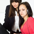 Girls working in the office — Stock Photo