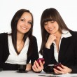 Two beautiful businesswomen — Stock Photo