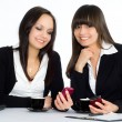 Two beautiful businesswomen - Stock Photo