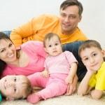 Happy family of five — Stock Photo #5762813