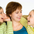 Happy mom with daughters — Stock Photo #5762830