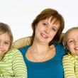 Happy mom with daughters — Stock Photo #5762836