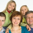 Happy family of five — Stock Photo #5762933