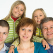 Happy family of five — Stock Photo