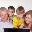 Grandparents and grandsons — Stock Photo #5767837