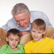 Granddad and grandsons — Stock Photo #5767853