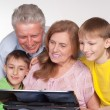 Grandparents and grandsons — Stock Photo #5767864