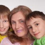 Grandmom and grandsons — Stock Photo #5767884