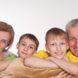 Grandparents and grandsons — Stock Photo #5767891