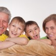 Grandparents and grandsons — Stock Photo #5767899