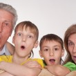 Grandparents and grandsons — Stock Photo #5767907