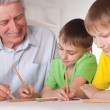 Granddad and grandsons — Stock Photo #5768124