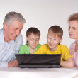 Grandparents and grandsons — Stock Photo #5768128