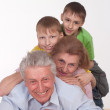 Grandparents and grandsons — Stock Photo #5768188