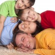 Prosperous family on a carpet — Stock Photo