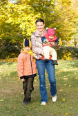 Happy mother with children — Stock Photo