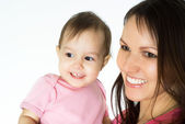 Mom and a baby — Stock Photo