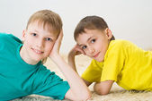 Two little bros — Stock Photo