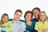 Happy family of five — Stock Photo