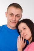 Retrato de una pareja feliz — Foto de Stock