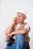 Senior builder vilar — Stockfoto