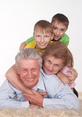 Grandparents and grandsons — Stock Photo