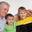 Granddad and grandsons — Stock Photo #5946498