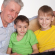 Granddad and grandsons — Stock Photo #5946500