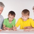 Grandparents and grandsons — Stock Photo #5946538