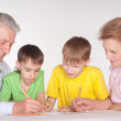 Grandparents and grandsons — Stock Photo #5946539