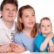 Happy family at table — Stock Photo #5949028