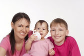 Mom and her children — Stock Photo