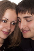 Cute couple together — Stockfoto