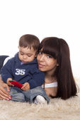 Portrait of a mom and child — Stock Photo