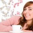 Nice girl with cup — Stock Photo